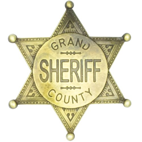 Estrella de Sheriff Grand County - placa cowboy