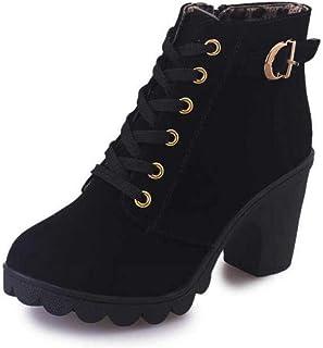 Women Pumps Warm Ankle Boots Waterproof High Heels