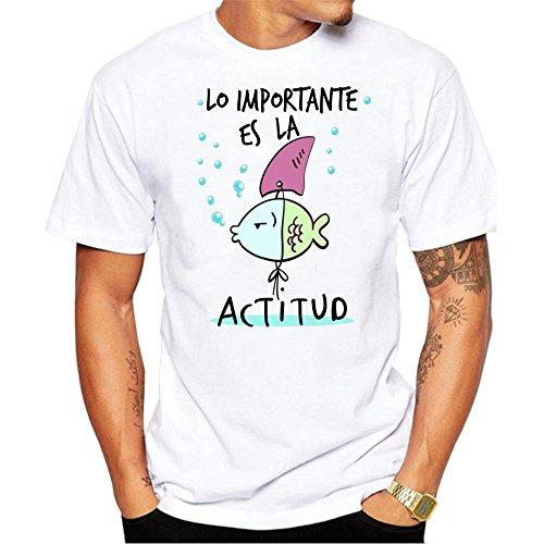 MardeTé Camiseta Hombre Lo Importante es la Aptitud. Camiseta para oposicones examenes Regalo Divertido. Camiseta opositor. (L)