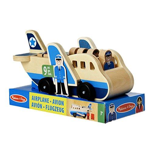 Melissa & Doug vliegtuig van hout met speelfiguren (9 delen)