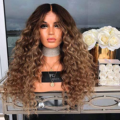 Perruques européennes et américaines de Cheveux bouclés à Haute température de Fibres Chimiques artificielles duveteuses Molles et moelleuses Perruques Femme XXYHYQHJD