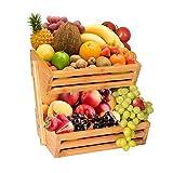Bamboo Fruit Basket Bowl Holder,...