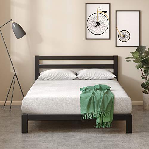 Zinus Arnav Modern Studio 10 Inch Platform 2000H Metal Bed Frame,Wooden Slat Support,With Headboard