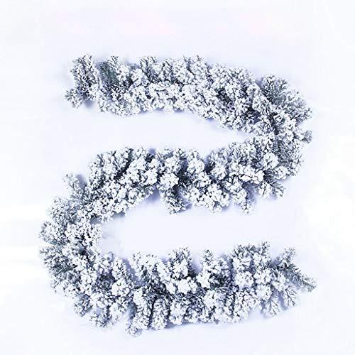 LXESWM slinger Kerstmis Sneeuw Koning Fir Garland Kerstversiering met dennenappels voor trap open haarden Xmas Boom Decoratie