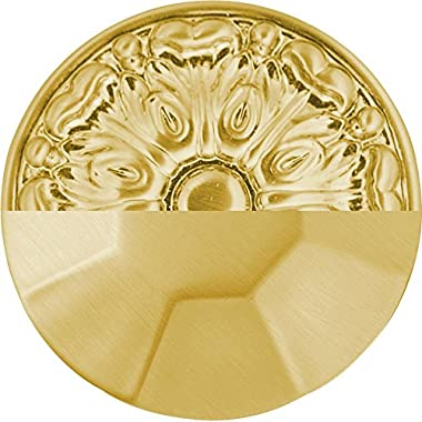 Hickory Hardware P3709-CABGB Midway Collection Knob 1-1/4 Inch Diameter, Crysacrylic with Brushed Golden Brass