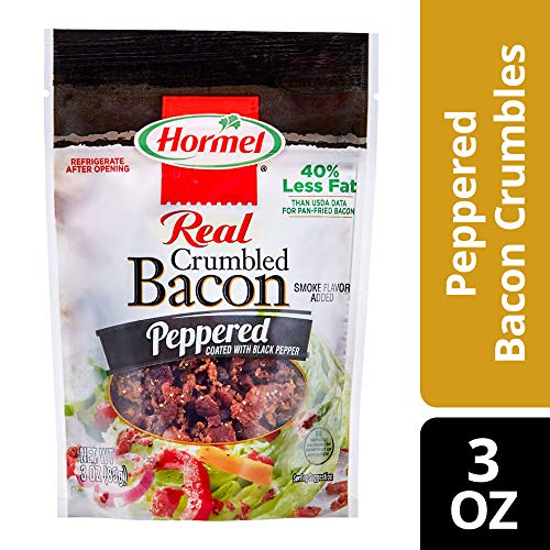 HORMEL Crumbled Bacon, Peppered, 3 Ounce