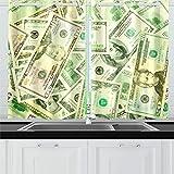 ZANSENG Cortinas Opacas para Cocina Ojetes Aislados térmicamente dólares de la habitación Cortinas de Fondo dispuestas para Sala de Estar, 2 Paneles de Cortina de Ventana