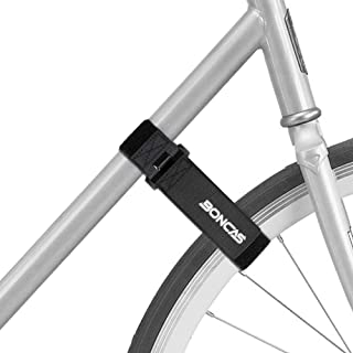 Boncas Adjustable Bike Rack Strap Bicycle Wheel Stabilizer Straps with Innovative Gel Grip Keep...