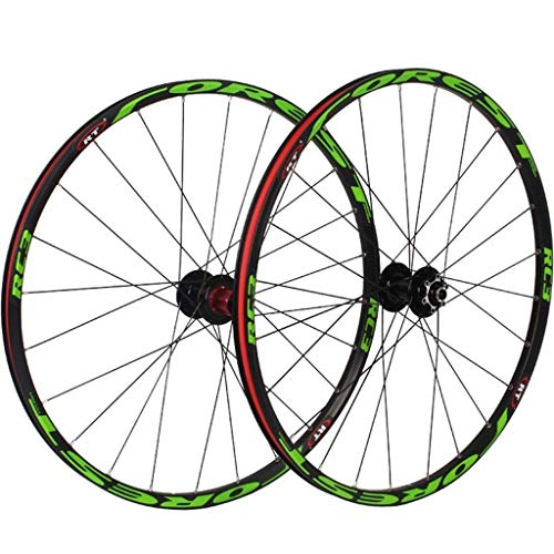 VTDOUQ Front rear wheels for bicycles 26 inch 27.5 inch mountain bike, MTB set bicycle 7 ball bearings drum made of alloy disc brake 8 9 10 11 gear