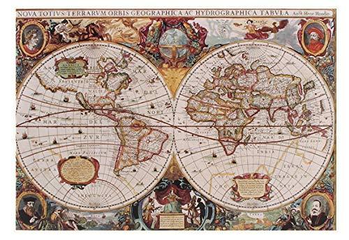 JYSHC Mapa Náutico Vintage del Viejo Mundo 1000 Piezas Rompecabezas Juguetes Divertidos para Adultos Y Niños Km11Iz