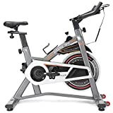 GOPLUS Indoor Cycling Bike, Stationary Bicycle with Flywheel and LCD Display, Cardio Fitness Cycle...