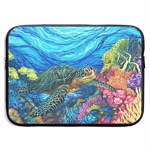 Laptop Case Sea Turtle Laptop Sleeve Protective Case Water-Resistant Neoprene Briefcase 15 Inch