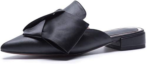 HommesGLTX Talon Aiguille Talons Hauts Sandales Grand Taille 34-43 Nouvelle Mode en Cuir Véritable Femmes Sandales Bout Pointu femmes Mules D'été Lady Décontracté Chaussures Habillées