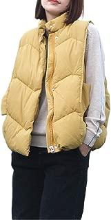 Howely Womens Puffer Coat Outwear Casual Winter Coat Sleeveless Vest Jacket