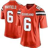 メンズNFLブラウンズ13#Beckhamjr 6#MayfieldファンレジェンドフットボールジャージートップスTシャツ,6#-1,XL