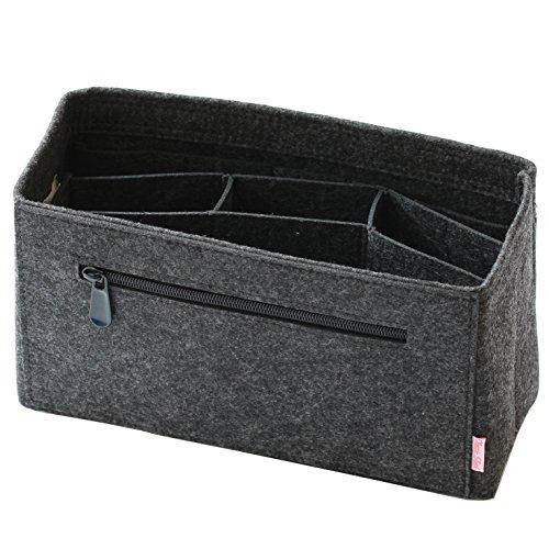 Classic Slash Taschenorganizer Filz Neverfull MM und Taschen ab 30cm Innenmaß I Dunkelgrau (Large)