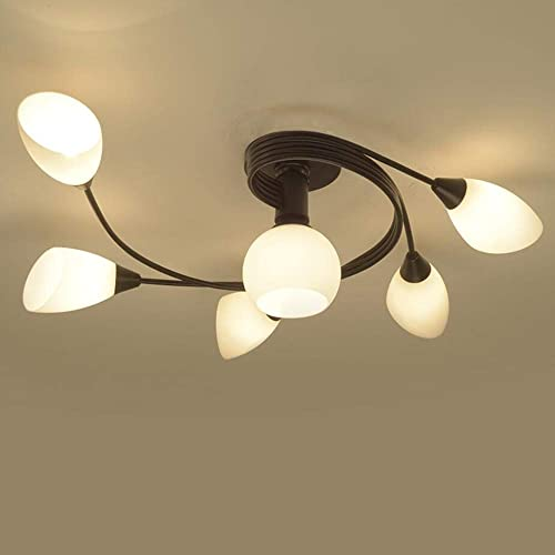 Delightful Joypeach Rustic Style LED Flush Mount Ceiling Lights, Creative Living Room Ceiling  Lamp, Bedroom