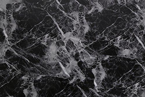 """(Schwarz, 1 Stück) Granit-Optik Marmor-Effekt Hochglanz-Finish Selbstklebende Abzieh- und Klebe-Wandtapete 61cm X 2M (24"""" X 78,7""""), 0,23mm für Tisch & Möbelgestaltung, Wohnzimmer, Schlafzimmer"""