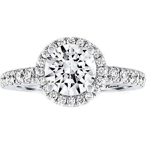SISGEM Verlobungsring für Frauen, 2 ct Moissanite Solitaire Ring mit 9 Karat / 14 Karat / 18 Karat Weißgold für die Verlobungshochzeit ihrer Damen (18K Gold)