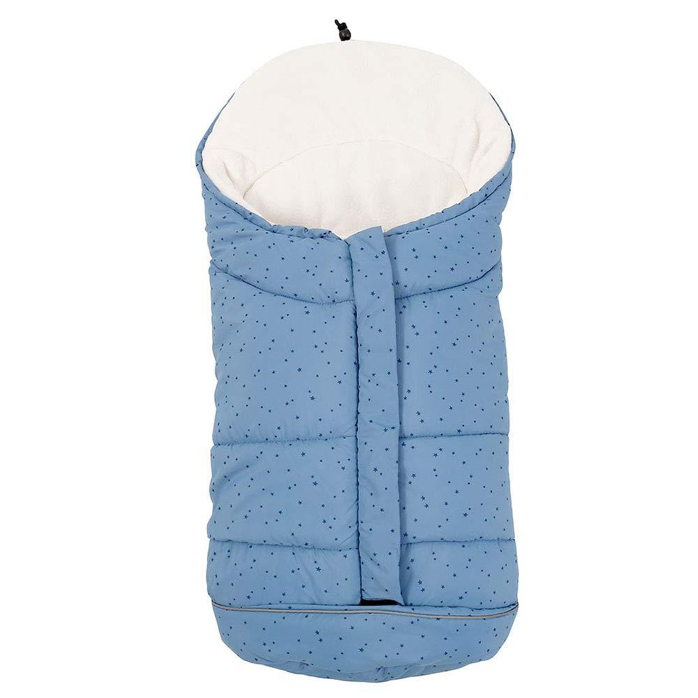 Fusssack Für Kinderwagen Babyschale Buggy Tragewanne Baby Schlafsack Winter Fußsack Mit 3 Reißverschluss Weicher Winterfußsack Für Baby Von 0 6 Monate Blau Sterne Baby