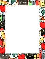 ジオグラフィック 学校に戻るレターヘッド 8.5 x 11インチ 100個パック (47587)