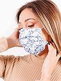 mascherina lavabile elegante donna - ICE FLOWERS - morbida, comoda, sicura, confortevole