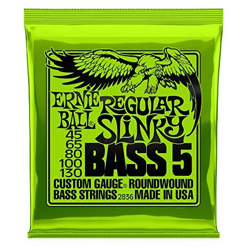 Ernie Ball Regular Slinky Cuerdas para bajo eléctrico de 5 cuerdas con...