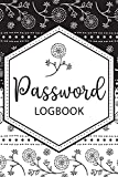 Password Logbook: Vault Keeper, Username & Website, Black & White Design (Size 6x9, Band 1)
