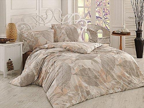 GH Homeshop Premium 2–3piezas Renforce–Juego de cama (100% algodón, con cierre de cremallera en diferentes tamaños, algodón, Besch Beige Braun Grau, 155 x 220 cm