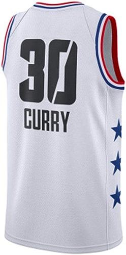 Li Kun Peng Curry NO.30 Stephen Curry Version  Jersey Version Double Combat Couple Basketball Uniforme Ville Costume De Football Gilet De Formation,C1blanc,XL