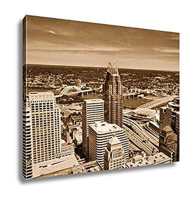 Ashley Canvas Aerial View Of Cincinnati Ohio Looking Toward Kentucky
