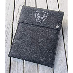 zigbaxx Tablet Hülle PLATZHIRSCH Case Sleeve Filz u.a. für iPad 9.7, iPad Pro 9,7/10,5/11 Zoll (2018), iPad mini 2/3/4…
