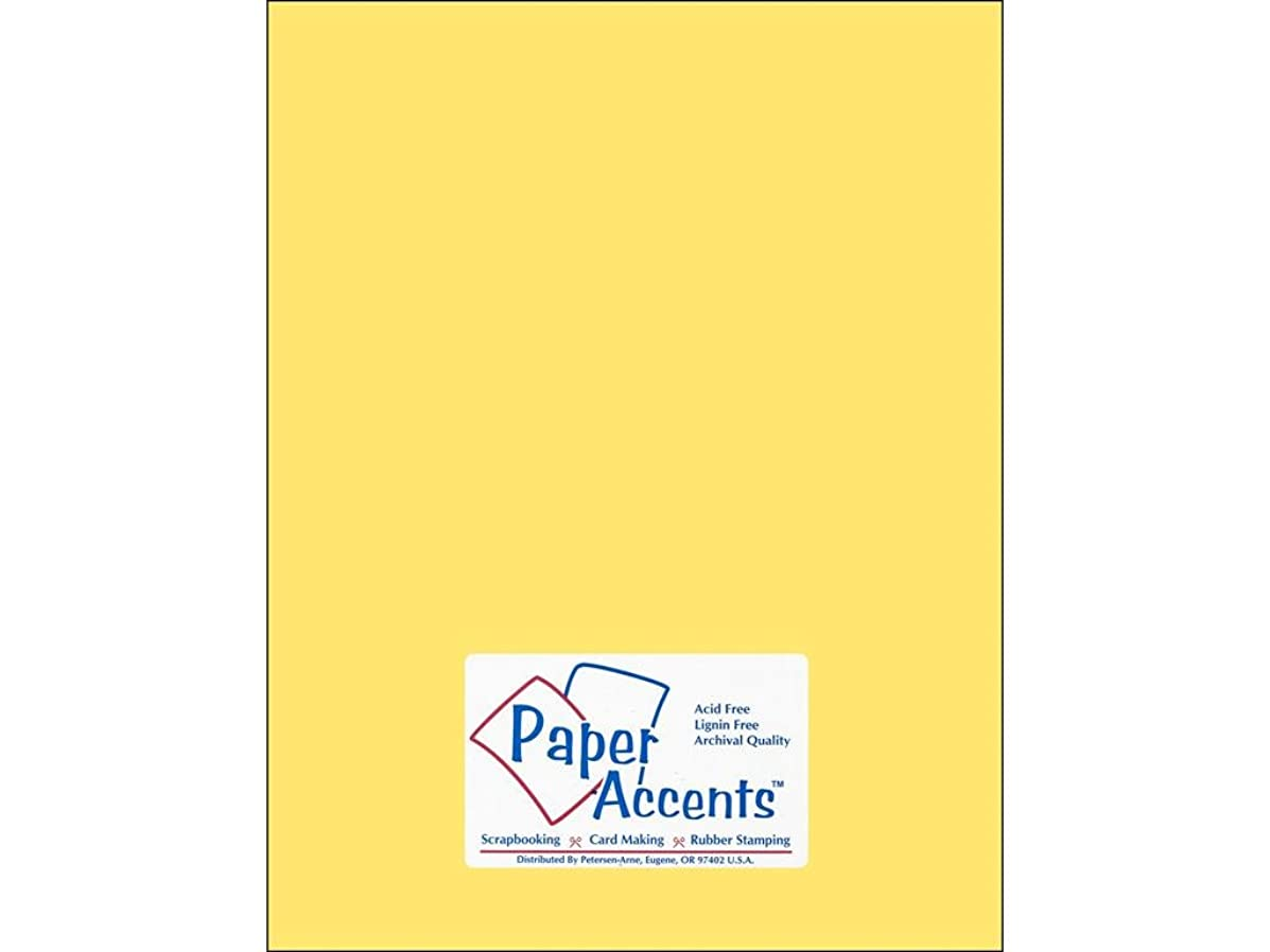 Accent Design Paper Accents StashBuild8.5x11 Cdstk Stash Builder 8.5x11 60# Buttercup