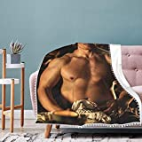 DSAWAT Outlander Jamie Fraser Blanket Throw Couch, Decorative, Lightweight, Soft and Warm for Picnic, Camping, Beach, Everyday Use