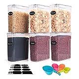 Boic Recipientes Hermeticos Alimentos Trozo de 6 ,4L Caja de Botes Almacenaje Cocina,Puede Almacenar Granos, Pasta, Harina y Comida para Mascotas