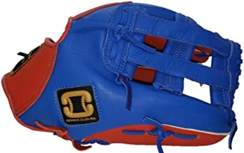 red white and blue catchers glove