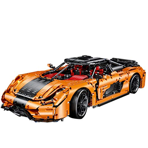 PEXL Technik Auto Bausteine Bausatz für Koenigsegg Regera Supercar, Technic Sportwagen Modell Bauset, 4200 Klemmbausteine Kompatibel mit Lego Technic