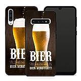 Handyhülle Bier für Samsung Silikon MMM Belrin Hülle Saufen Vodka Party Trinken Spruch Sprüche, Hüllendesign:Design 1   Silikon Schwarz, Kompatibel mit Handy:Samsung Galaxy A40