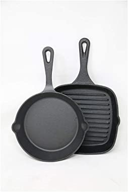 2 piece Cast iron skillet and Square griddle