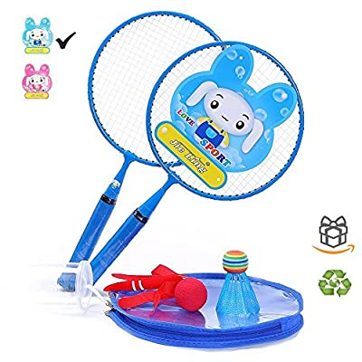 Mini Badminton Set for Kids With 2 Rackets