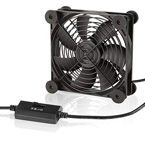 KOTTO Big Airflow 120mm Fans DC 5V Powered Fan with 3 Speed Control, Cabinet Chassis Cooling Fan, Server Workstation Cooling Fan