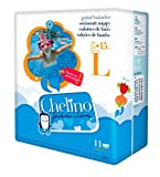 Chelino Fashion & Love - Pañal infantil de agua, talla L, 11 pañales