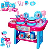alles-meine.de GmbH große Kinderküche - incl. Zubehör ! -  Disney Frozen - die Eiskönigin  - für Kinder - Geschirr & Töpfe - Spielküche aus Kunststoff / Plastik - Kochfeld / Ti..
