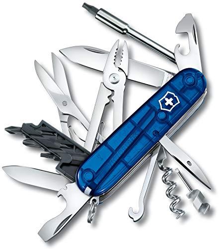 Victorinox Taschenmesser Cyber Tool M (32 Funktionen, Klinge, Bit-Schlüssel/Halter) blau transparent