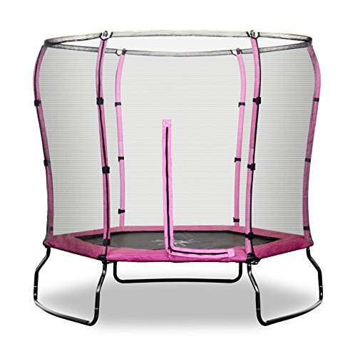 Safe Jump Rebo 7FT Trampoline With HALO Safety Enclosure - 2 Colours (Pink)