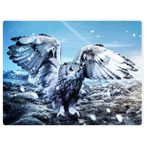 YISUMEI Decke 150x200 cm Kuscheldecken Sanft Flanell Weich Fleecedecke Bettüberwurf Schneewittchen Eule