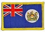 Flaggenfritze Flaggen Aufnäher Hongkong alt Fahne Patch + gratis Aufkleber