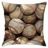 Hangdachang Fundas de almohada de lujo The Official Site of Major League Baseball Funda de cojín decorativa para sofá, dormitorio, sala de estar, 45,7 x 45,7 cm