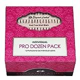 Elegant Lashes Knot-Free Flare Short Black Individual Eyelashes (Pro Dozen Pack - 12 Trays)