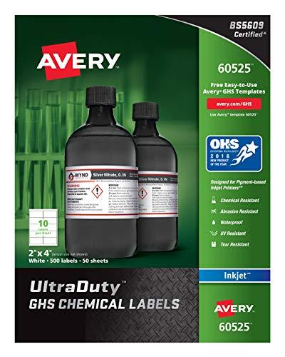 Avery 8160 Adress-Etiketten für Tintenstrahldrucker, 2,5 x 5,1 cm, 750 Stück 500 Etiketten 2